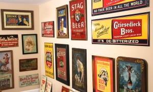 Breweriana Vintage Advertising Signs 1870-1950's