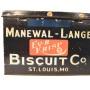 Manewal-Lange Biscuit Co., Tin Box, St. Louis, MO