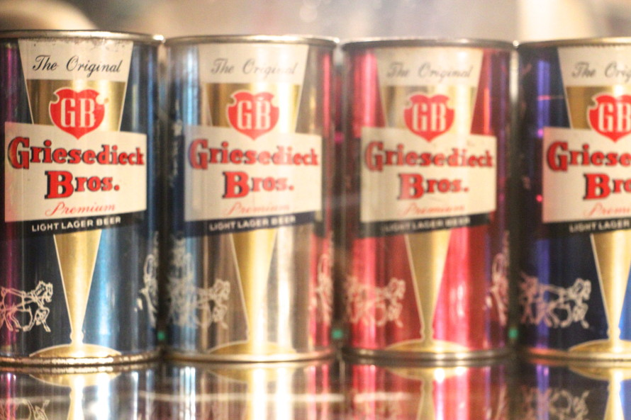 1953 Griesedieck Bros. Flat Top Beer Cans