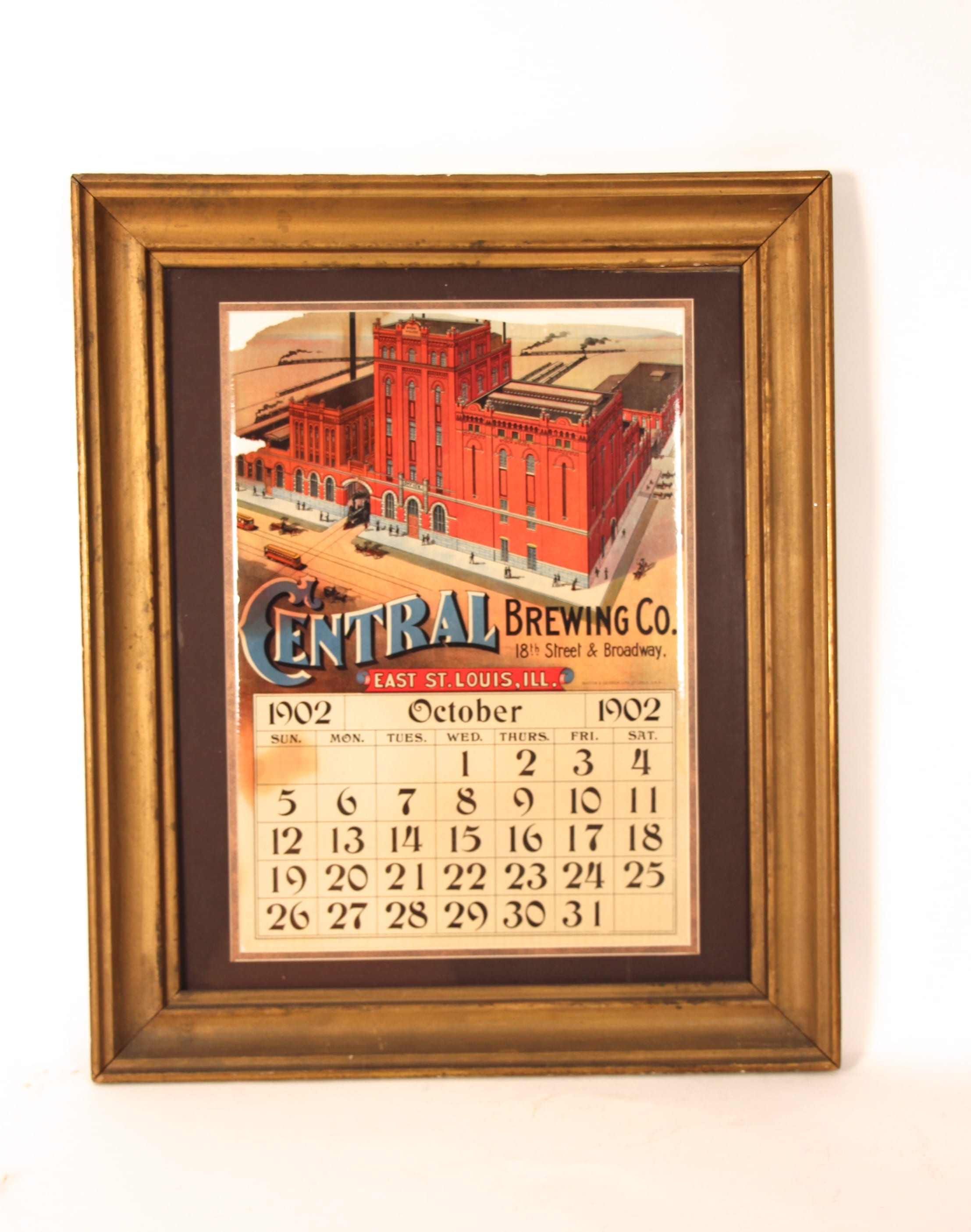 Central Brewery Advertising Calendar1903, E. St. Louis, IL