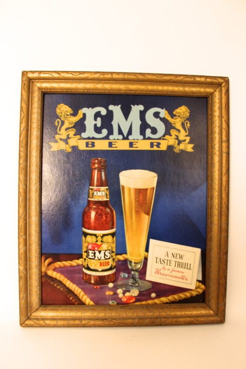EMS Brewing Co, Cardboad Sign, E. St. Louis, IL