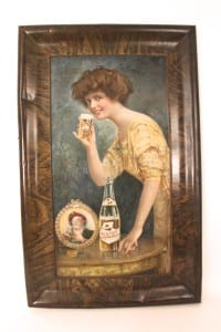 1905 Self Framed Tin Sign