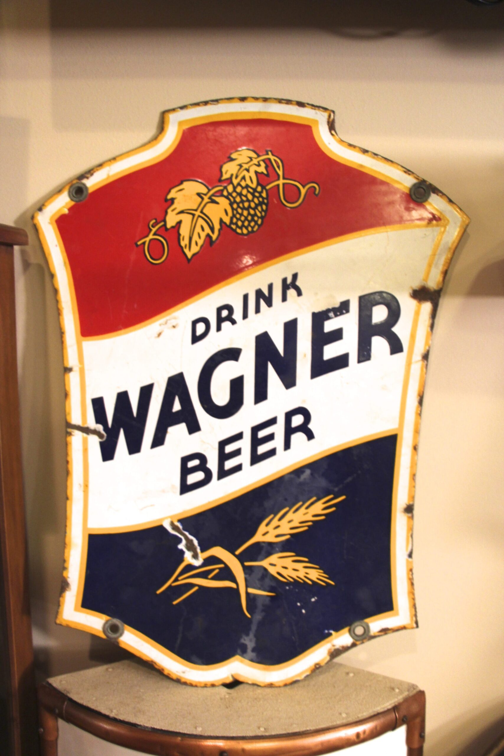 Wagner Beer Porcelain Sign, Granite City, IL