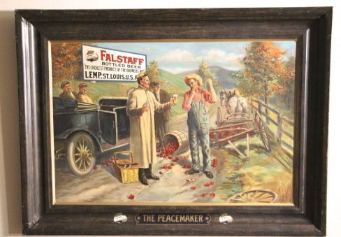 Wm. J Lemp Brewing Co, Self Framed Tin Sign, Peacemaker, St. Louis, MO