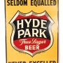 Hyde Park Brewery Beer, Tin Sign, St. Louis, MO