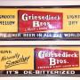 Griesedieck Bros. Tin Signs, St. Louis, MO