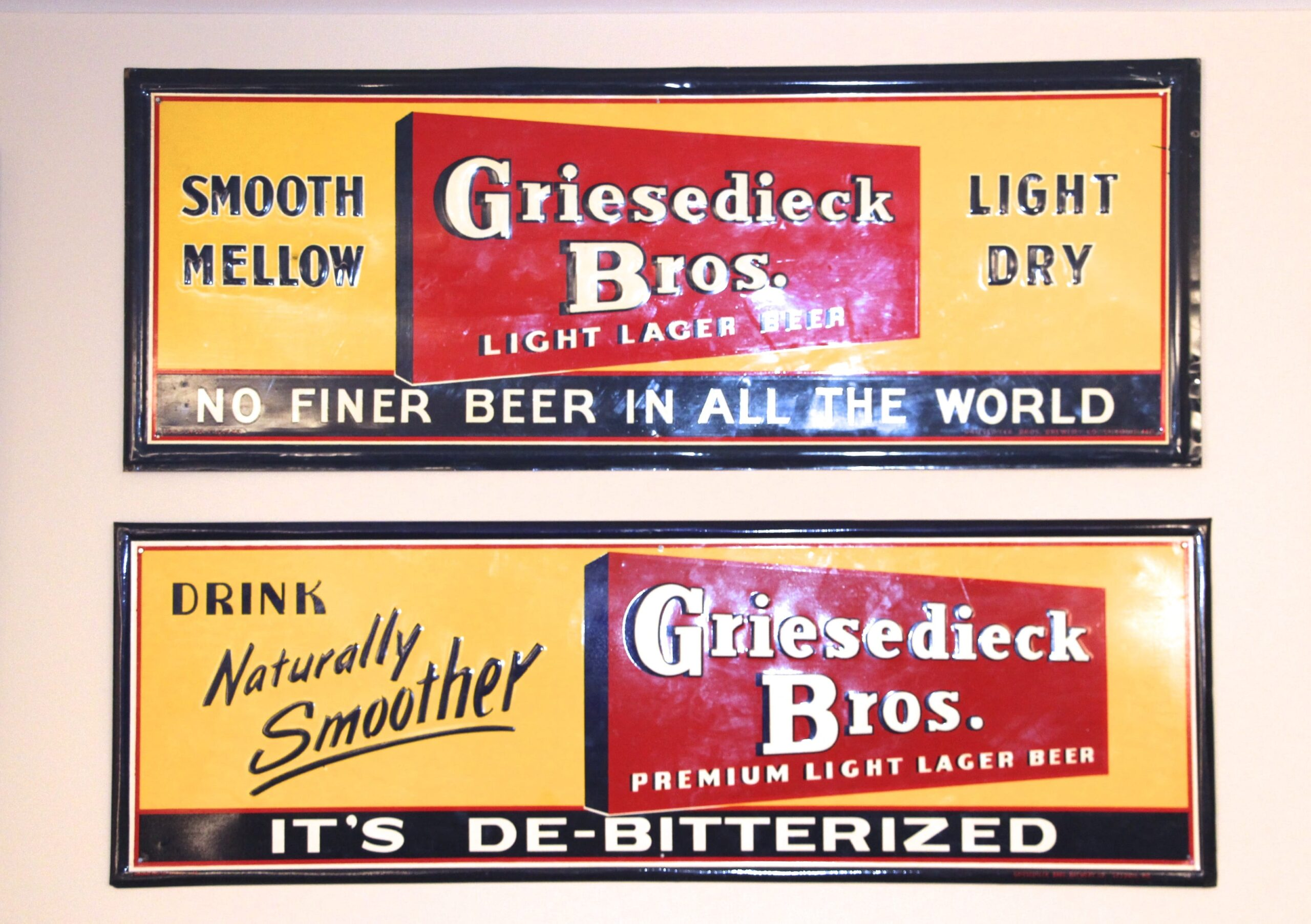 Griesedieck Bros. Tin Signs, St. Louis, MO