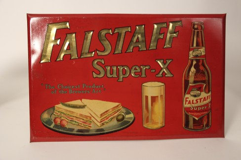 Falstaff Super X Tin Over Cardboard Beer Sign, St. Louis, MO