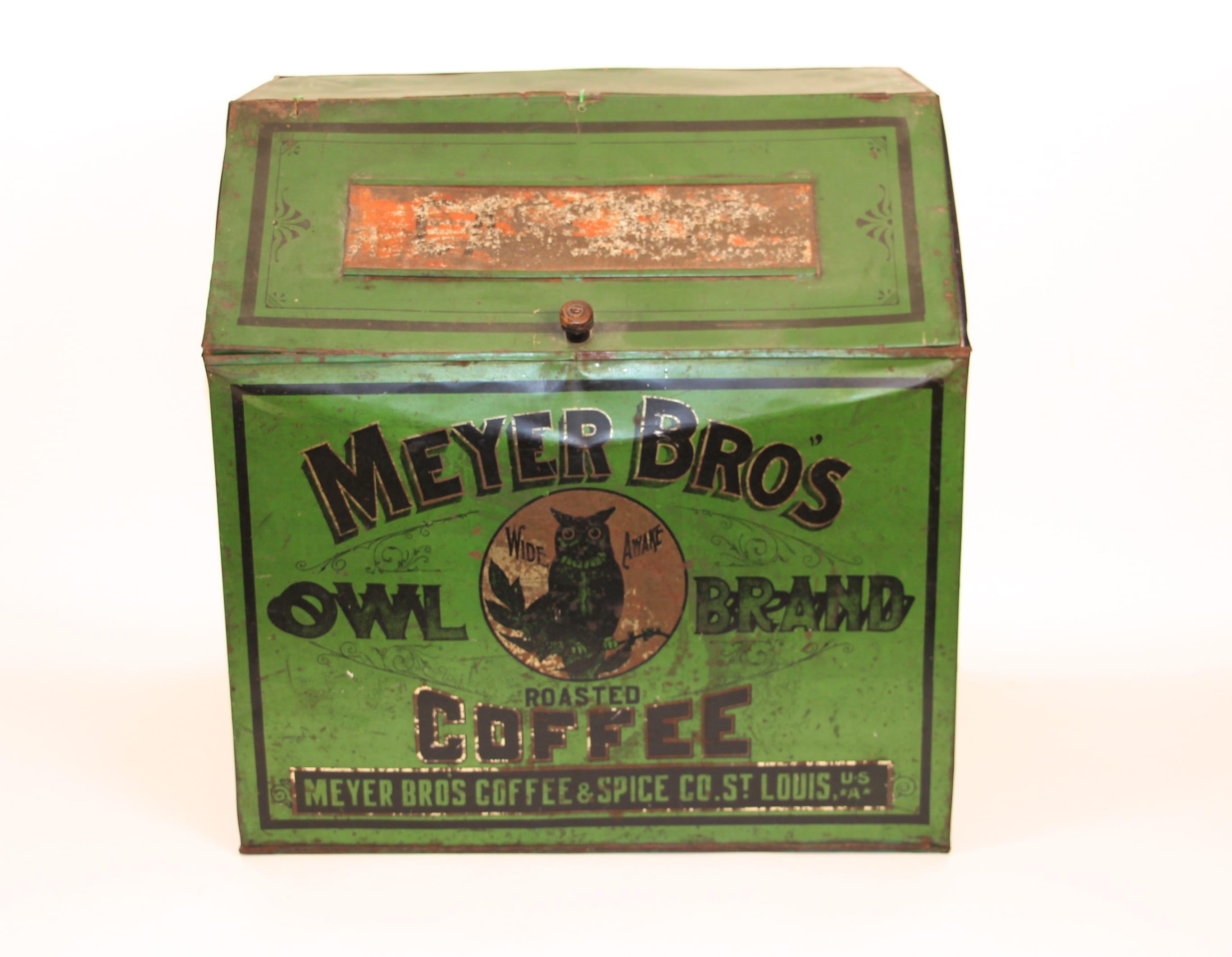 Meyer Bros Owl Brand Coffee Display Bin, St. Louis, MO