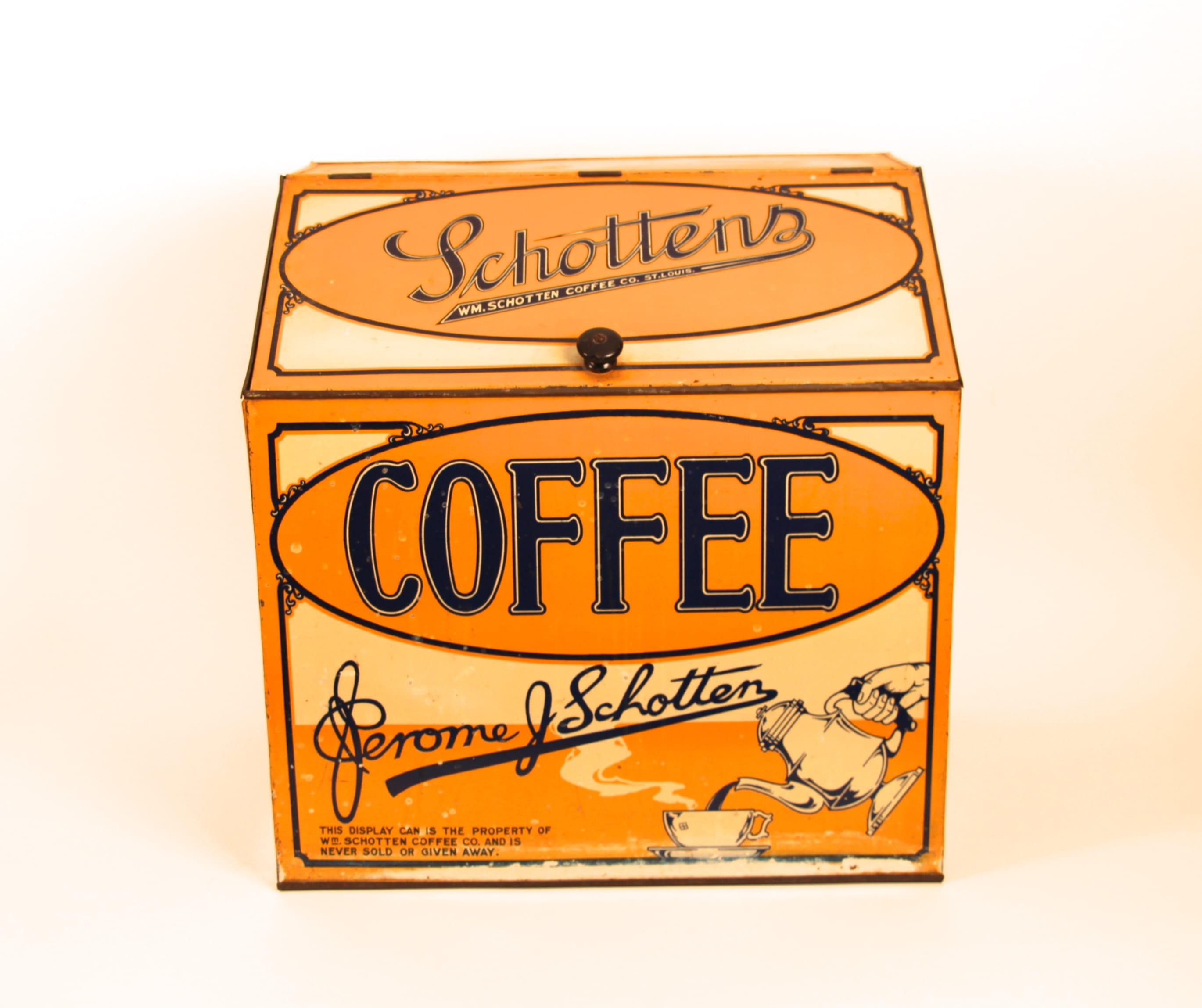 Jerome Schotten Coffee General Store Display Bin, St. Louis, MO