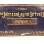 Johnson-Layne Coffee Co, Gunpowder Brand General Store Bin, St. Louis, MO