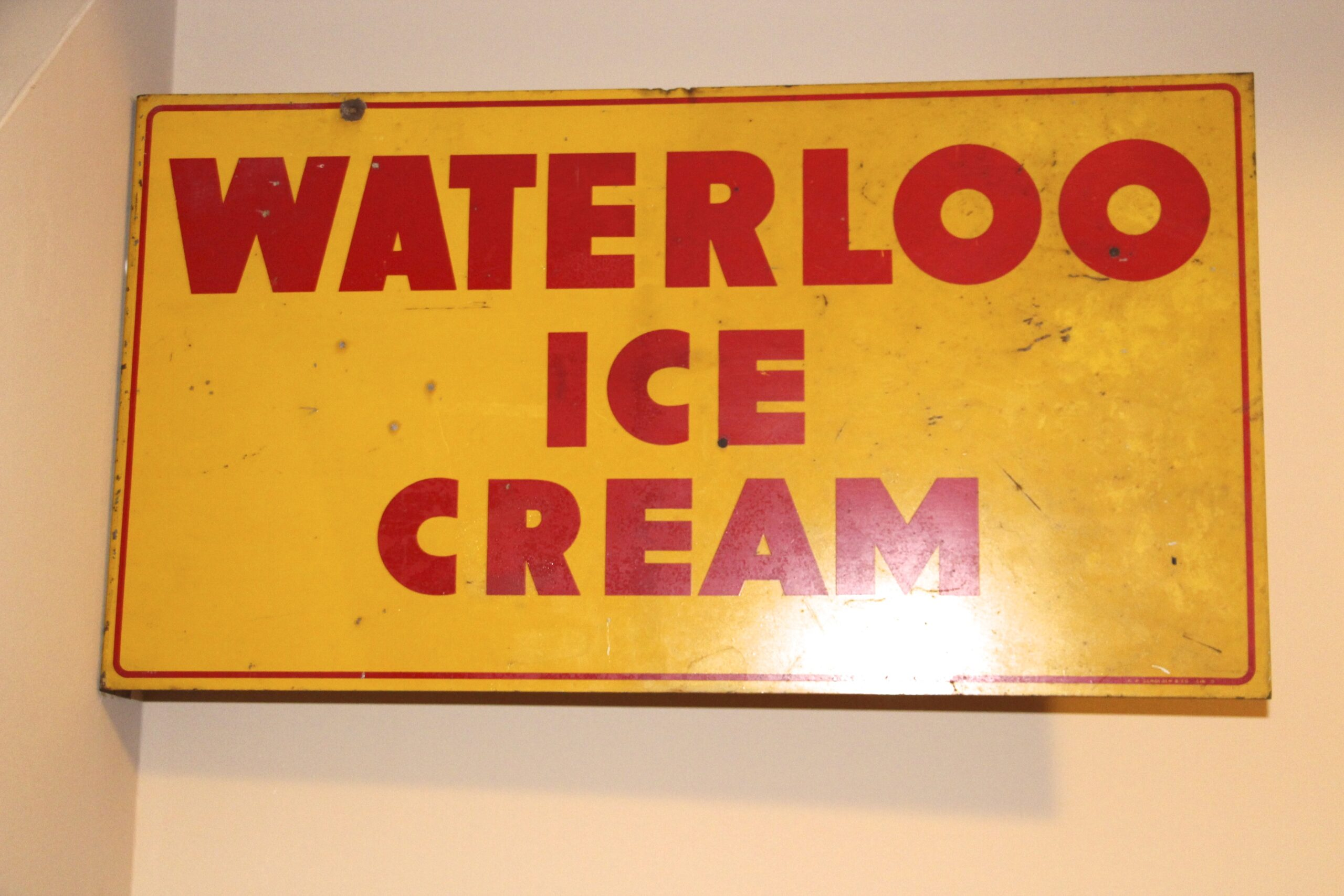 Waterloo, IL Milk Co. Flange Metal Sign