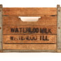 Waterloo IL Milk Co Wood Carrying Crate, IL