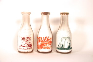 1940′s Milk Bottles Waterloo Milk Company