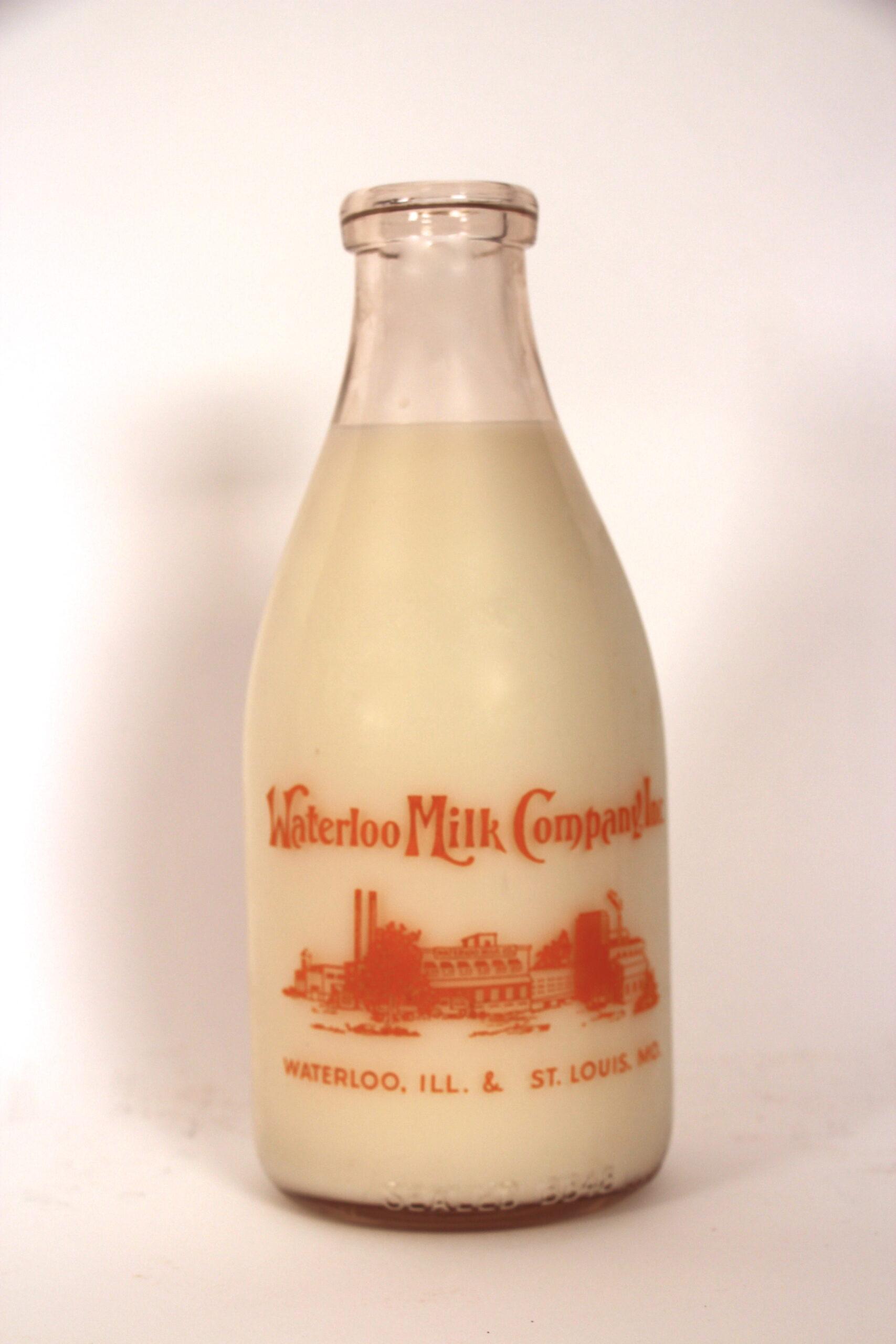 Waterloo Milk Co. Painted Label ACL Orange Paint, Waterloo, IL