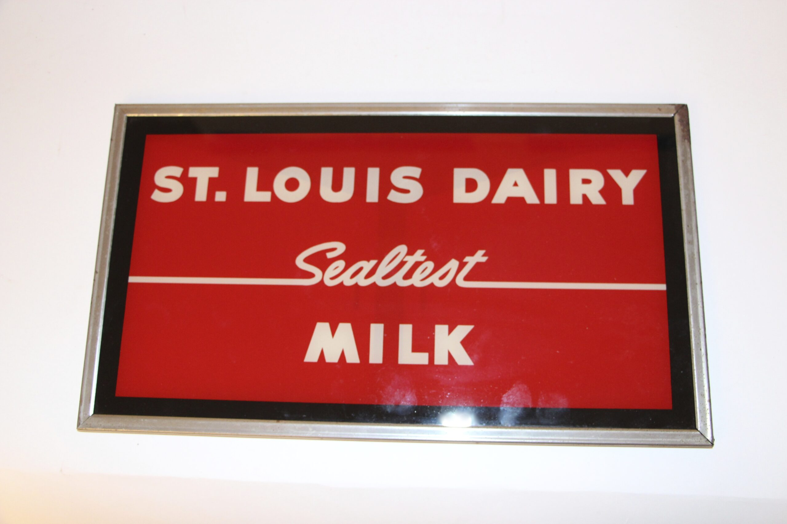 Sealtest Dairy Reverse on Glass Shadow Box