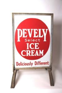 Pevely Dairy, Porcelain Sidewalk Sign