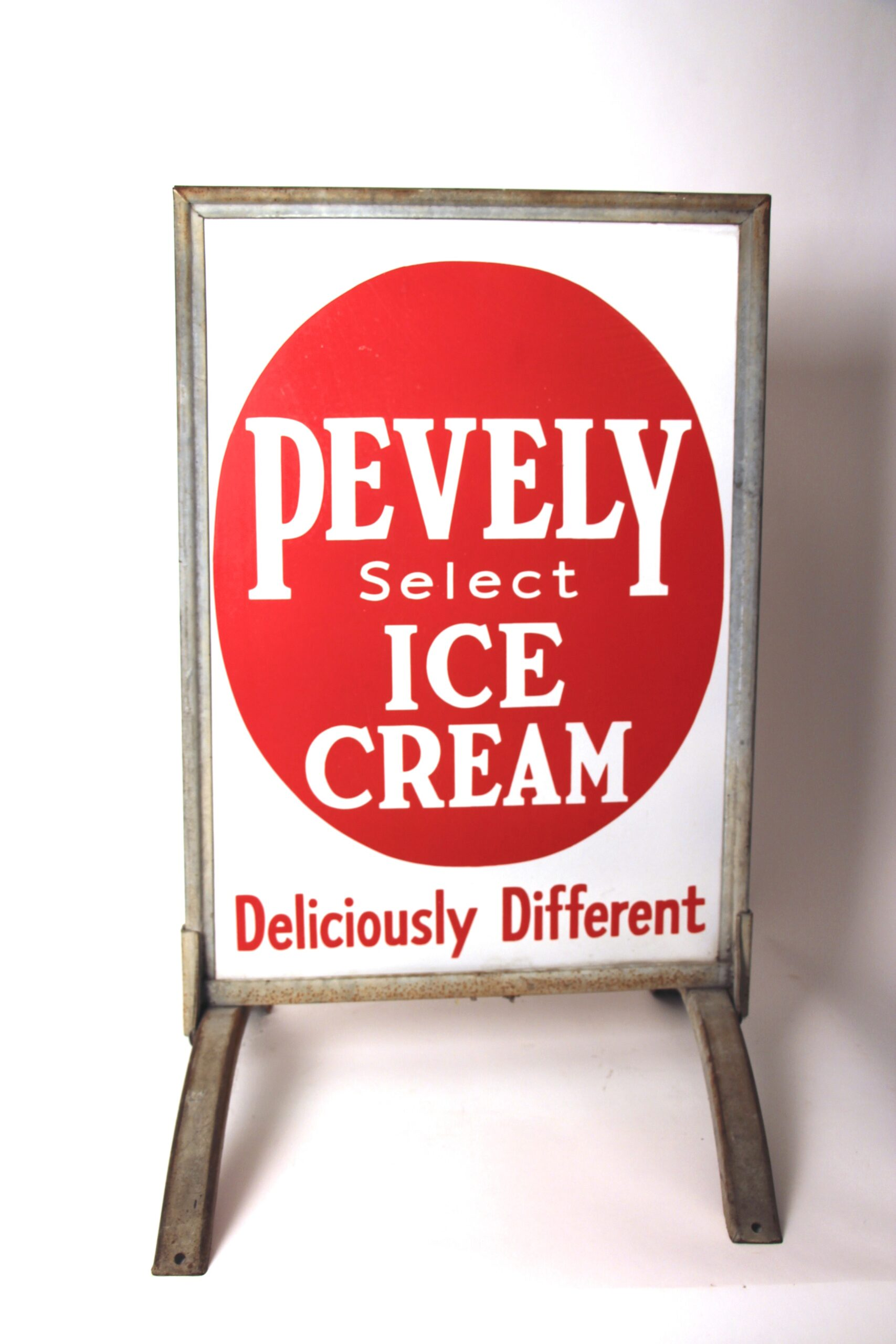 Pevely Dairy, Porcelain Sidewalk Sign