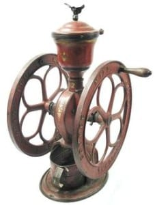 1875-1900 Elgin National Countertop Coffee Grinder