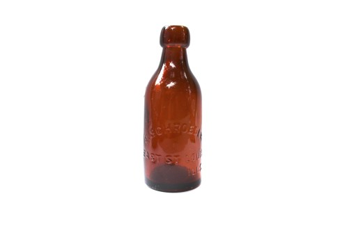 E. Schroeder Amber Soda Bottle, E. St. Louis, IL
