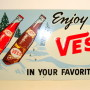 Vess Soda Tin Advertising Sign