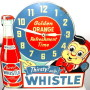 Whistle Brand Orange Soda Advertising Clock