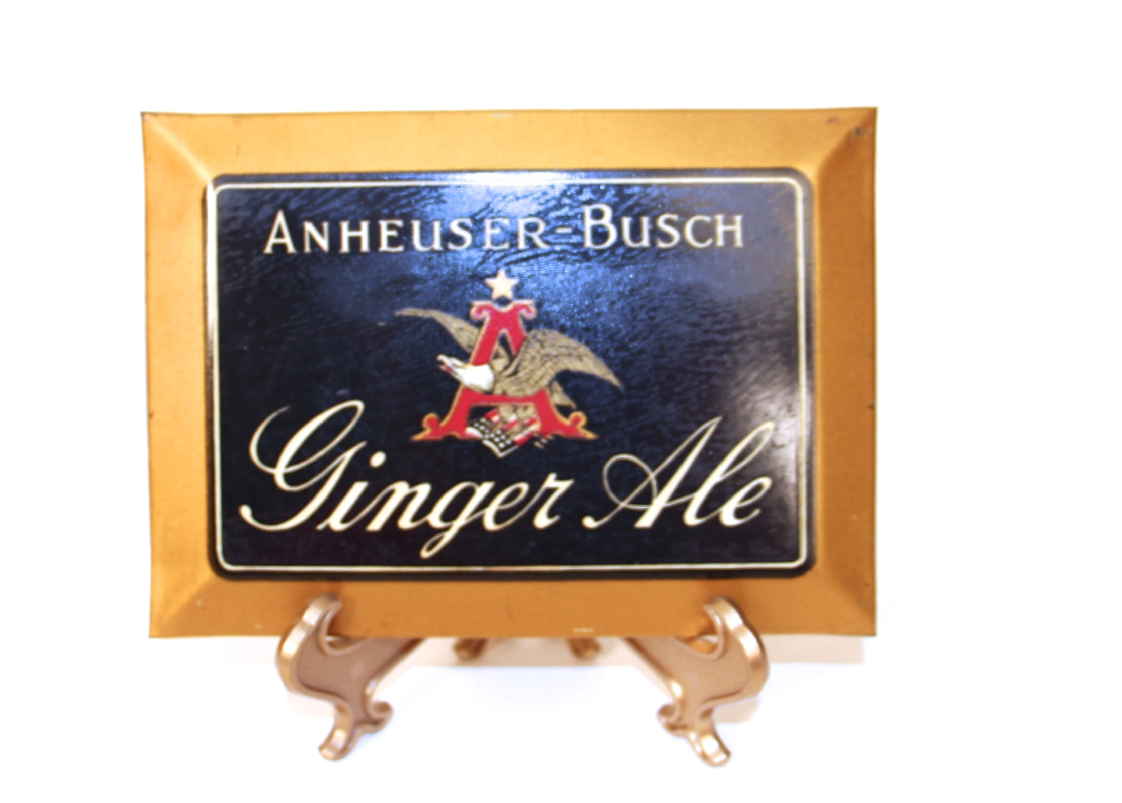 Anheuser Busch Ginger Ale, Tin over Cardboard Sign, St. Louis, MO