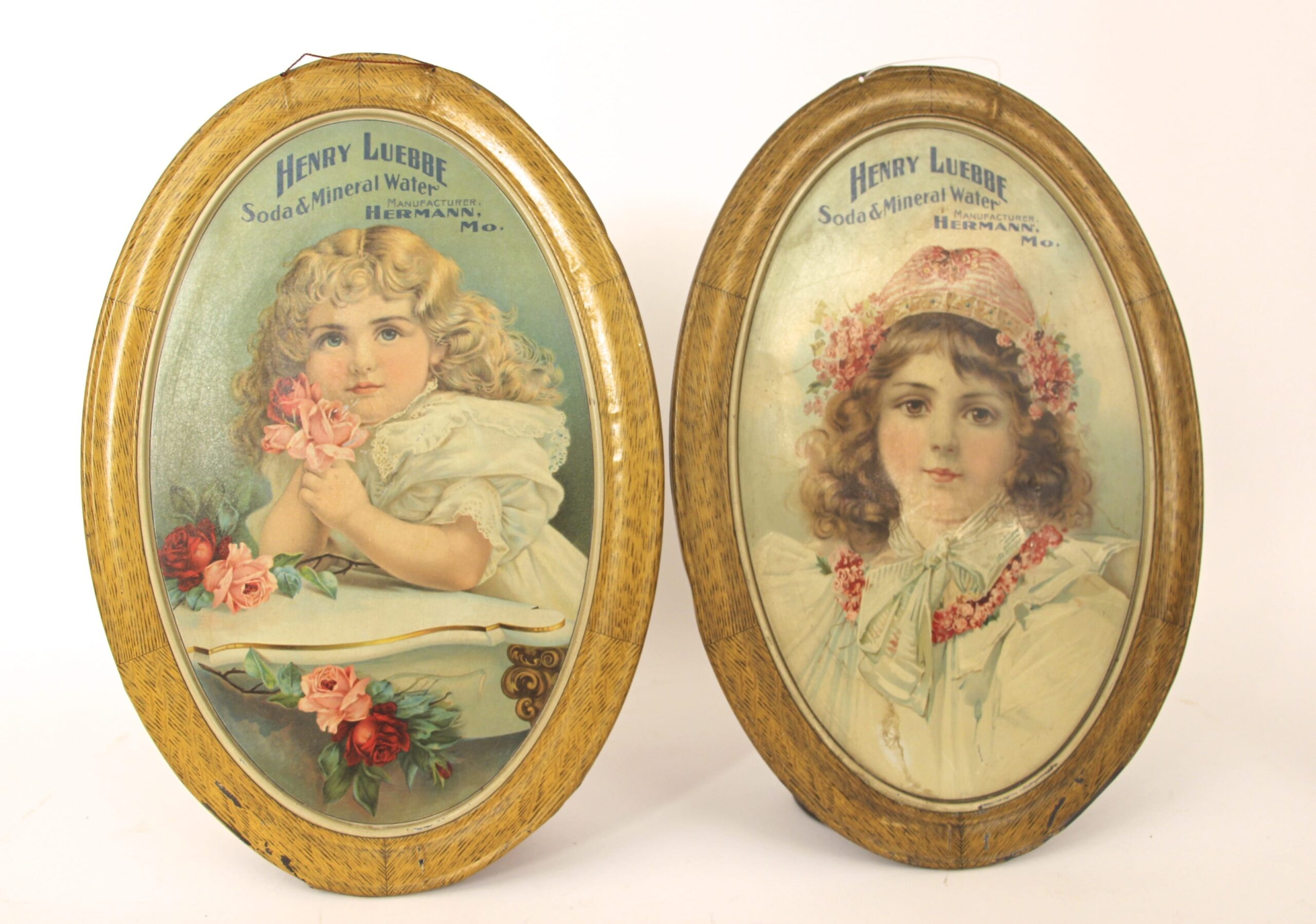 Henry Luebbe Self-Framed Tin Signs 1900