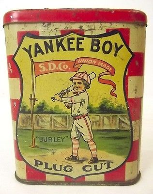 Yankee Boy Cut Plug Pocket Tobacco Tin
