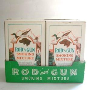 1930 Smoking Tobacco Cardboard Stand