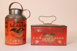 1910-1920 Union Leader Cut Plug Tobacco Tins