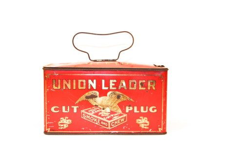 Union Leader Lunch Pail Tobacco Tin
