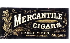 1910′s F. R. Rice Co. Mercantile Cigars Tin Sign