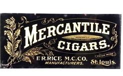 1910′s F. R. Rice Co. Mercantile Cigars Tin Sign