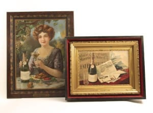 Self-Framed Sign Wine Collectibles  - The American Wine Company Circa 1900