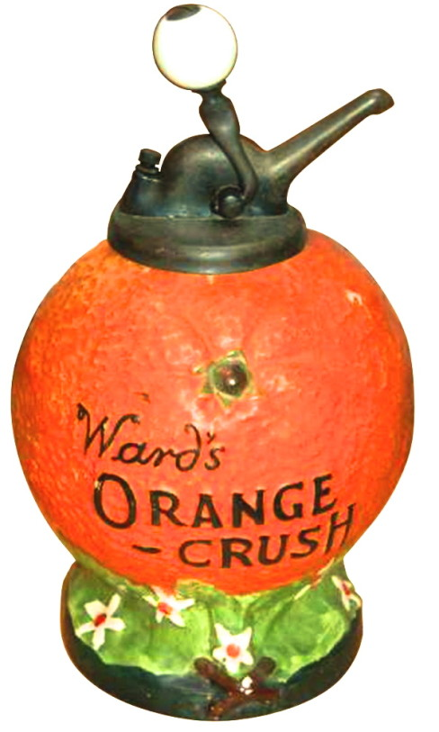 Wards Orange Crush Soda Syrup Dispenser
