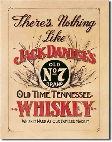 Jack Daniels Whiskey Tin Sign