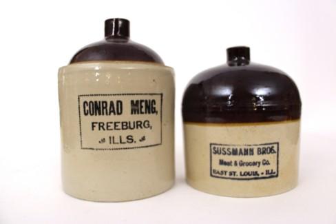 Sussmann Bros & Conrad Meng Whiskey Jugs, Illinois