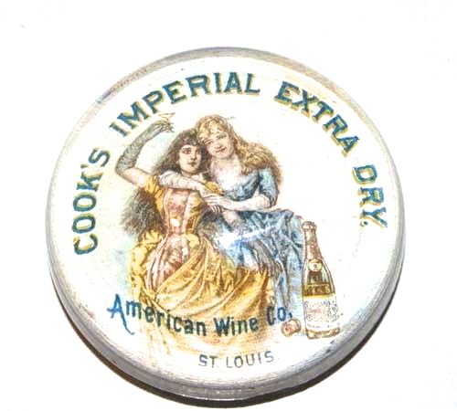 Wine Paperweight The American Wine Company Cook's Imperial Champagne