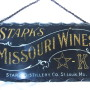 Stark's Missouri Wines Reverse on Glass Sign