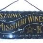 Stark's Missouri Wines Reverse on Glass Sign