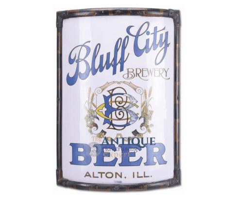 Bluff City Vitrolite Corner Sign, Alton, IL. Circa 1910