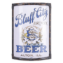 Bluff City Vitrolite Corner Sign, Alton, IL. Circa 1910