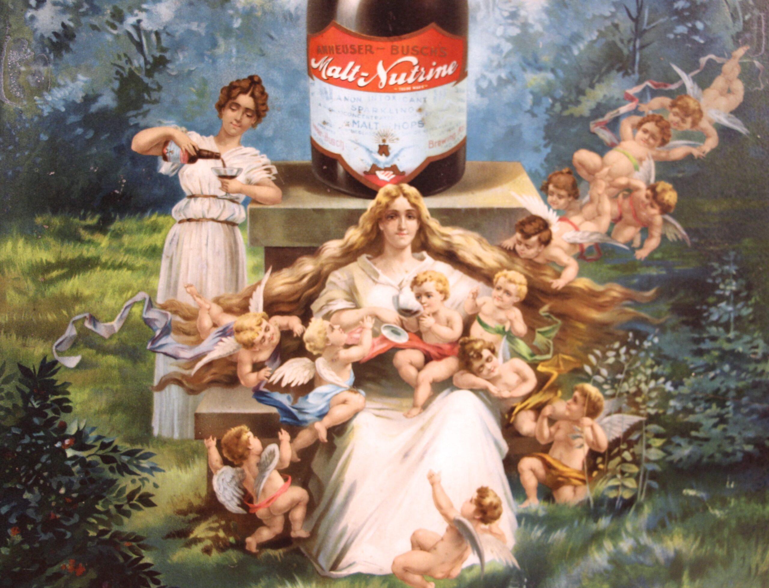 Anheuser-Busch Malt-Nutrine Fountain of Health Sign Details