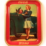 Coca-Cola Tray Two Girls at Car 1942