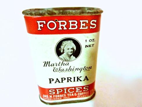 Forbes Martha Washington Paprika Tin