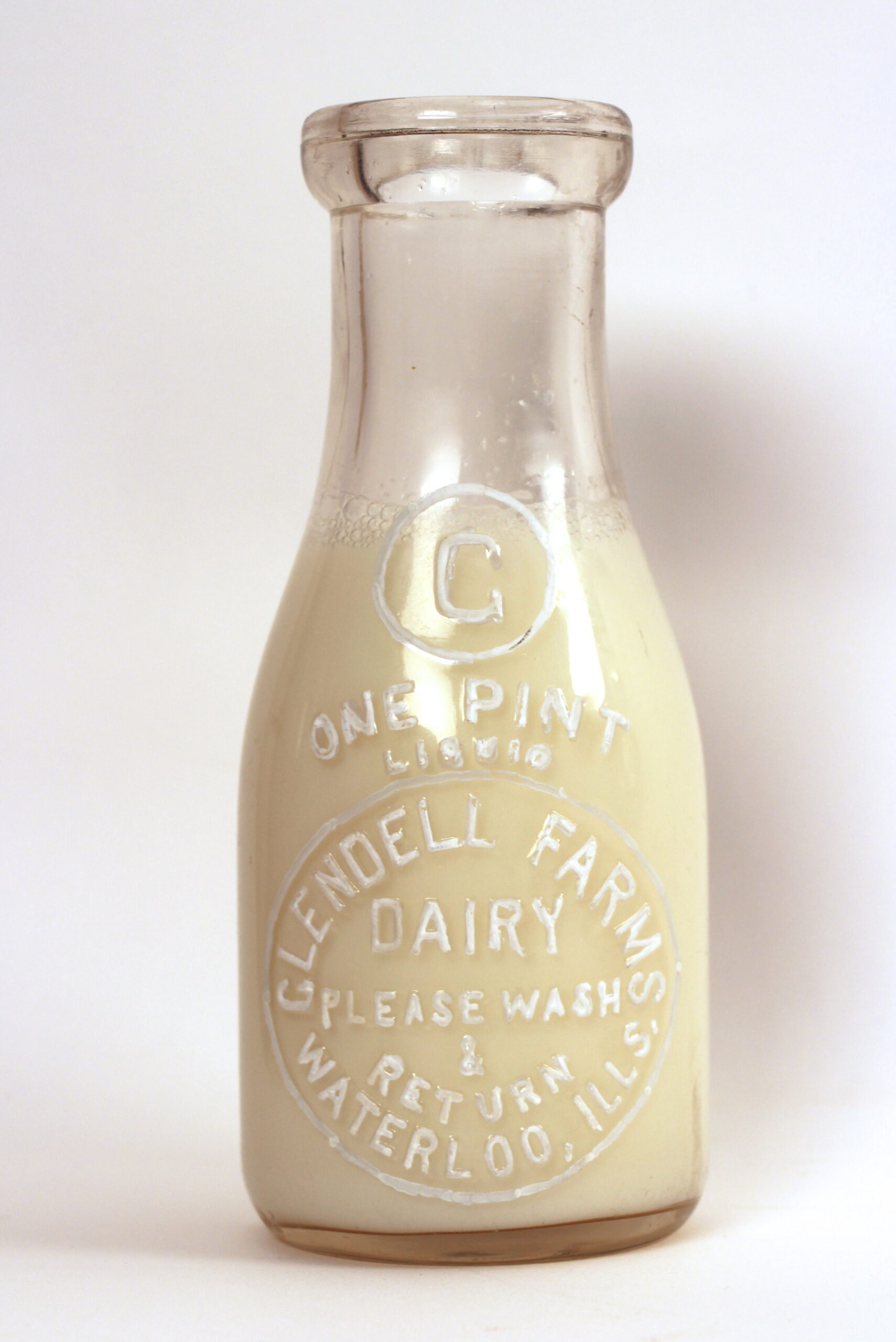 Glendell Farm Dairy Milk Bottle 1930