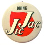Jic Jac Celluloid over Cardboard Button Sign 1950