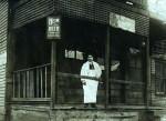 POSTCARD: Heim Beer Corner Sign at a Saloon 1908