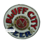 Bluff City ROG Round Corner Sign, Alton, IL. Ca. 1900